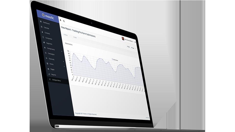 Marketing Automation desde un laptop